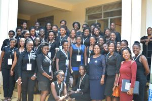 """LAW- Uganda's Director Hon. Dora Byamukama facilitated a training camp on """"Alternative leadership"""". More than 40 ladies from different districts attended to learn how to dissect governance issues using a gender lens."""